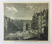1887 magazine engraving ~ CASTLE OF HEIDELBERG, Germany