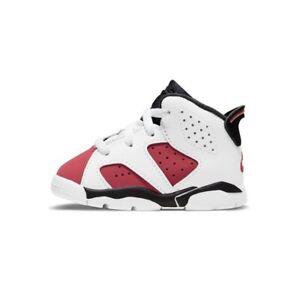 Nike Air Jordan Retro 6 Carmine 2021 White Black Red Maroon Toddler TD Size