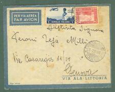 St.postale colonie. SOMALIA ITALIANA. POSTA AEREAHARAR. Aerogramma del 28.2.1939