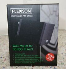 Flexson wall mount for SONOS PLAY:3 - Black, Brand NEW