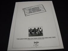 Led Zeppelin release In Through Out Door 1979 full page magazine Frameable Advt