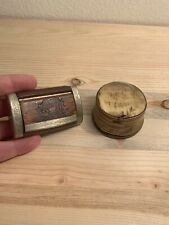 Antique French Snuff Boxes Horn Nickel Wood