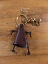 BALLY of Switzerland brown Karol leather keyring key ring authentic - New in Box