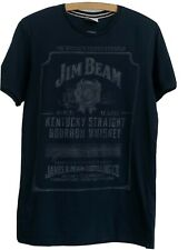 Classic Black Jim Beam T-Shirt -S-M  Kentucky Straight Bourbon Whiskey