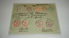 FRENCH PORT SAID 1902-03 18-25, 27, JULY 6 1903 CANCELS COVER MERSEILLE POSTCARD