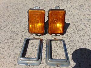 77-79 Cadillac Fleetwood Deville Front Parking Turn Signal Marker Lights Tested