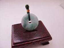 100% Natural Type A Jadeite Jade donut pendant C00186