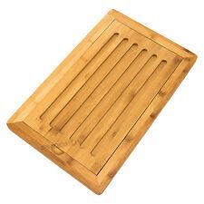 Bambou en bois pain planche à découper crumb catcher plateau aliments à découper coupe tapis
