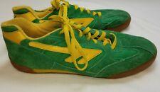 Hi-Tec 1974 Mens Tennis Shoes Sneakers Squash Deluxe Green Yellow Retro Sz 12 US