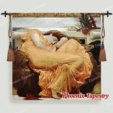 """Flaming June Fine Art Tapestry Wall Hanging, Cotton 100%, 39""""x39"""", UK"""