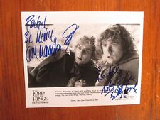 DOMINIC MONAGHAN/BILLY BOYD ( The Lord of the Rings)Signed  10 x 8  B & W Photo