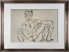 "Egon SCHIELE Lithograph SIGNED  ""Nude Self Portrait"" 1918 LIMITED Ed. w/FRAMING"
