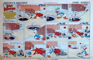 Donald Duck by Al Taliaferro - early half-page color Sunday comic, Dec. 20, 1936