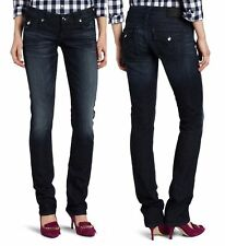 True Religion R200F1 Women's Low Rise Straight Blue Jeans Size 31 x 32 NWT #A8