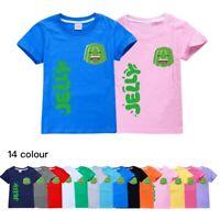 Kids Smile Jelly Merch Short Sleeve T-Shirt Youtuber Gamer Top Cotton Tee UK