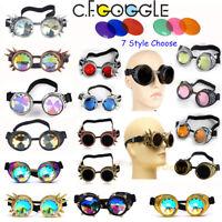 Retro Steam Punk Cyber Goggles Steampunk Glasses Vintage Welding Gothic Pilot US