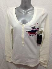 BNWT Womens Sz 2X/20 Beverly Hills Polo Club Cream Long Sleeve Grandpa Style Top