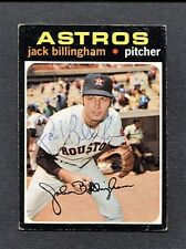 1971 TOPPS JACK BILLINGHAM-HOUSTON ASTROS AUTOGRAPHED CARD
