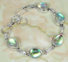 Rainbow Mystic & 925 Silver Handmade Designer Bracelet 215mm * gift-box