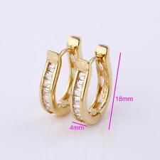 18k ct Gold Filled Elegant Huggie rhinestone zircon Earring