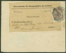 Portugal 1905 form/Geographical Society stamp
