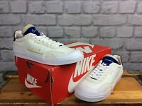 NIKE UK 5.5 EU 38.5 DROP TYPE LX WHITE BLUE TRAINERS CHILDRENS LADIES RRP £70 LG