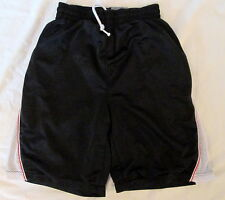 STARTER Black/white athletic polyester shorts Small (28-30) *FREE SHIPPING* Nice