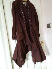 Steampunk style long brown dress coat Valesi