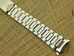 Vintage NOS Unused Waltham Stainless Deployment Clasp Watch Band 10mm Bracelet