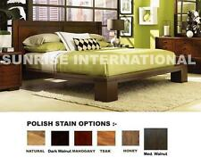 Stylish wooden king size Double bed with 2 matching bed side cabinet !!