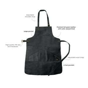 Leather Apron Full Leather Butcher Apron For Hobbyists Woodwork Blacksmith