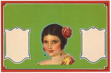 STOCK CRATE LABEL 1930 SENORITA ORIGINAL NOS PINUP LOS ANGELES MEXICANA LATIN