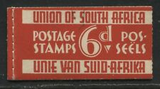 South Africa KGV 1937 6d Booklet 1/2d and 1d (2 panes of 2 each)