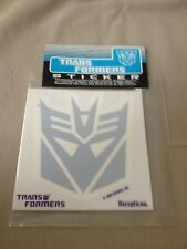 "Vintage 2000 Hasbro Takara Decepticon Transformers 5"" Decal New Sealed"