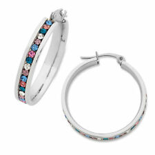 Unbranded Crystal Hoop Fashion Earrings