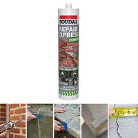 Soudal  | EXPRESS REPAIR Cement | Gap Filler | Crack Repair | 300ml | GREY