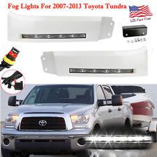 Pair LED white Daytime Running Lights DRL Fog Lamp for 2007-2013 Toyota Tundra