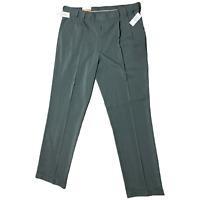 Van Heusen Traveler  Gray Stretch Premium Pleated  Pants Tall Size 38 X 36 NWT