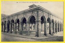 cpa 12 - VILLEFRANCHE de ROUERGUE (Aveyron) MARCHE couvert Market hall animée