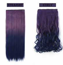 OneDor® 3/4 Full Head Dip-dye Color TwoTone Synthetic Clip In/on Hair Extensions