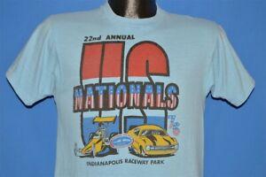 vintage 70s NHRA US NATIONALS 1976 DRAG RACING INDIANAPOLIS t-shirt SMALL S