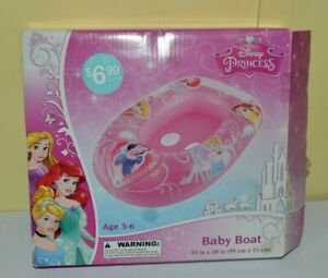 Disney Princess Inflatable Baby Boat Ages 3-6 - Summer - NEW IN Opened Box
