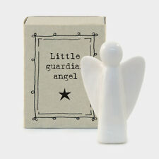 East of India White Porcelain Guardian Angel in Vintage Style Matchbox