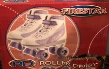 Firestar Roller Derby Girls Roller Skates Size 1 Purple/White