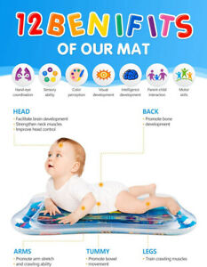 Water Play Mat inflatable Infant Baby Toy Fun Boy Girl Growth Brain Development