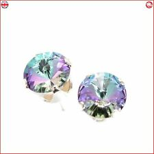 925 Sterling Silver stud earrings expertly With Starlight Crystal SWAROSKI New