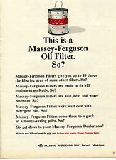 1964 Print Ad of Massey Ferguson MF Farm Tractor Oil Filter