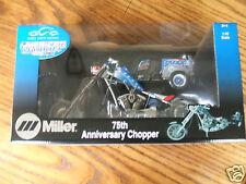 ORANGE COUNTY CHOPPERS MILLER WELDER BIKE with TRAILER  1:10 SCALE  DIE CAST,MIB