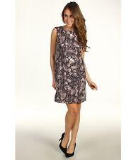 New Suzi Chin Matte Jersey Sequin Overlay Animal Snake Dress Size 10
