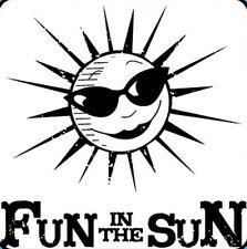 Inkadinkado Fun In The Sun Clear Acrylic Mini Stamp Beach    Buy ANY 3 Free Ship